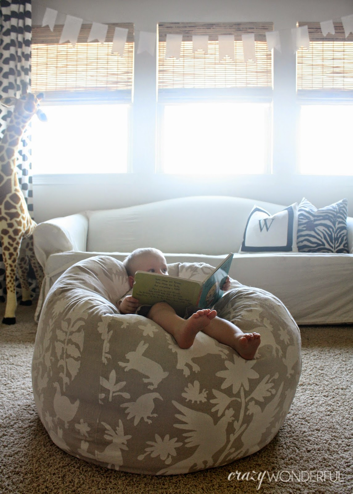 Diy Bean Bag Chair Otomi Print Wonderful