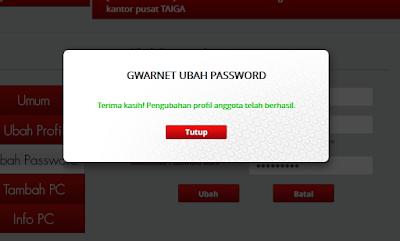 Hati-Hati Isi User Name dan Password Registry G-Warnet
