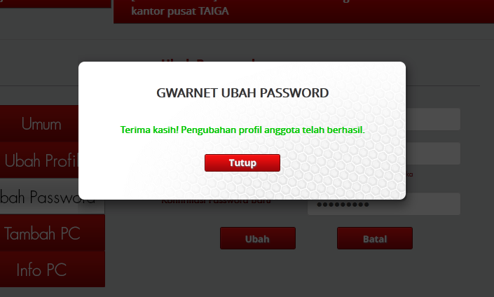 Hati-Hati Isi User Name dan Password Saat Install Registry G-Warnet