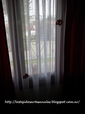 Tejidos artesanales apliques para cortinas tejidos al crochet - Apliques para cortinas ...