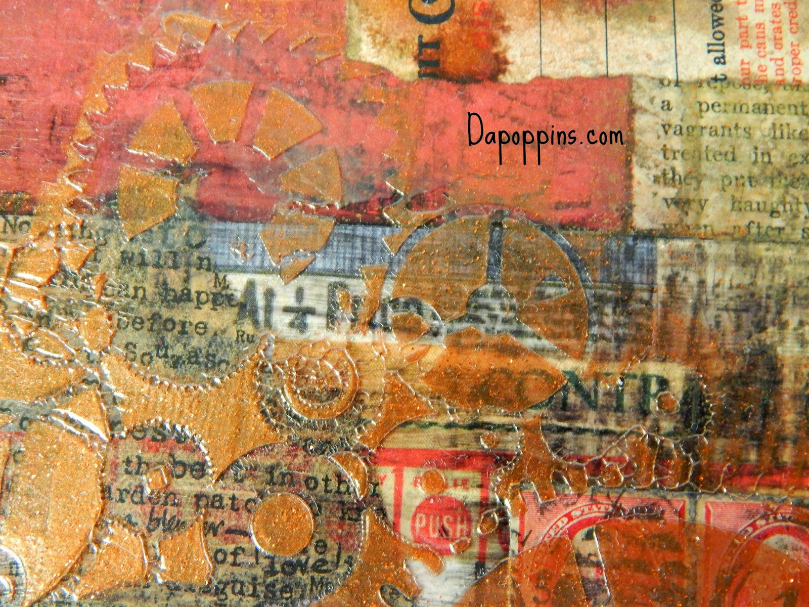 Altered Art Canvas, Mixed Media,