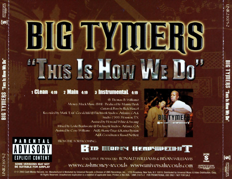 BIG TYMERS - THIS IS HOW WE DO LYRICS