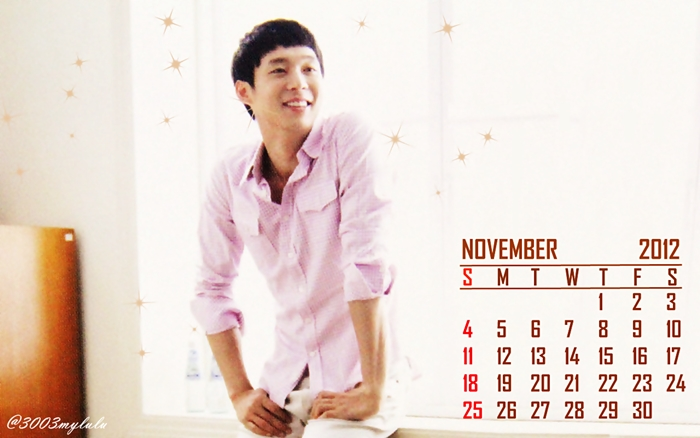 Calender Park Yoochun November 2012Yoochun Shirtless