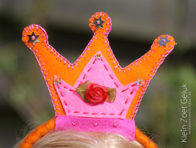 Haarband met een kroontje