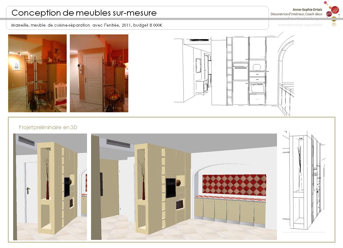Agence aso concept anne sophie ortais meuble s paratif for Meuble entree appartement