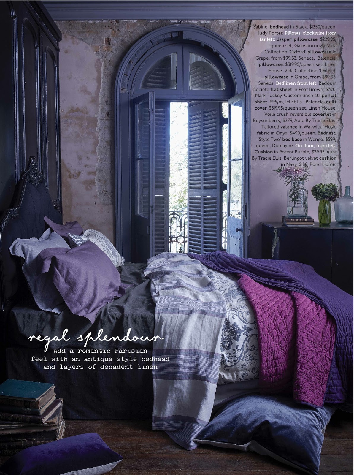 Bed head design this months home beautiful sabine bedhead feature