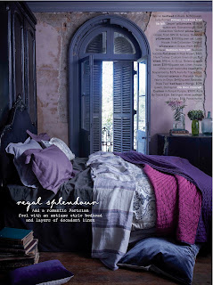 The black padded headboard from Bedhead Design is an elegant bedhead which looks great in the May issue of Home Beautiful magazine.