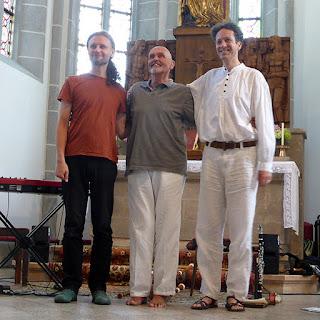 Stephan Steiner, Hans Joachim Roedelius & Albin Paulus, More Ohr Less 2015 / photo S. Mazars