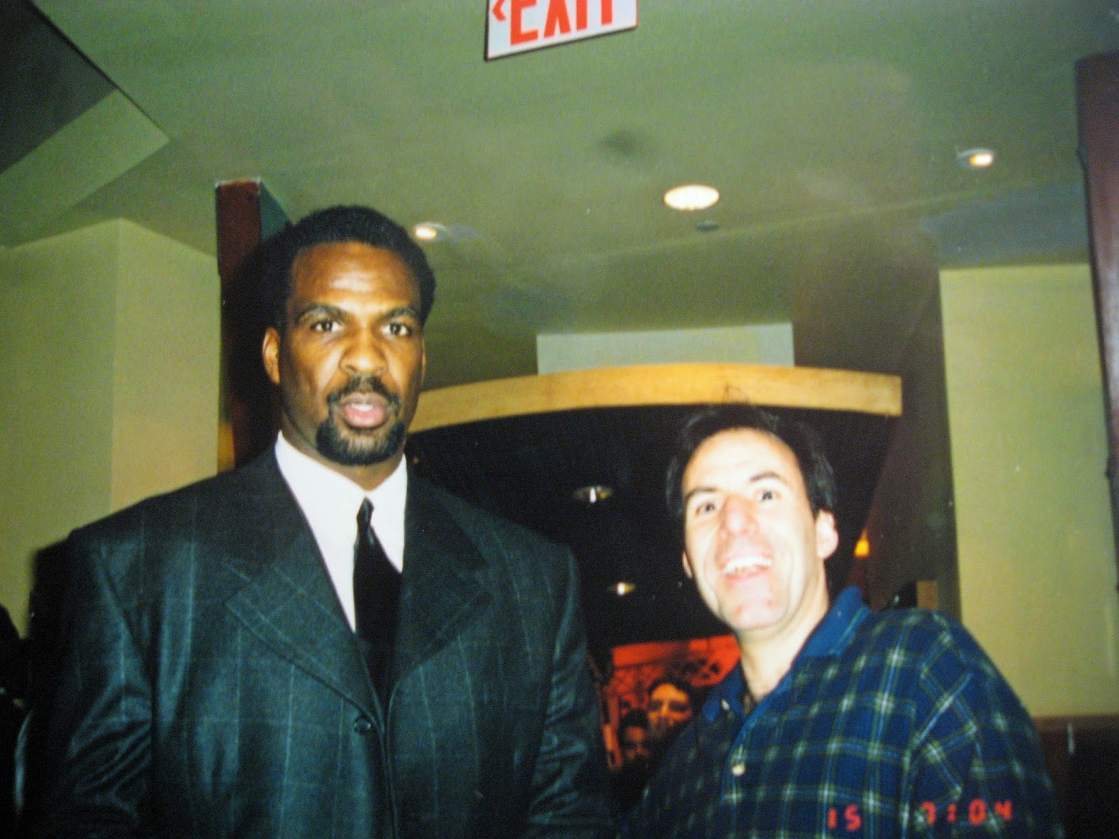 Gigantic Charles Oakley of the New York Knicks