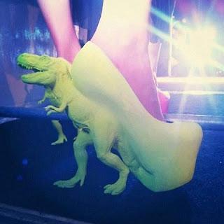 T Rex Dino heels
