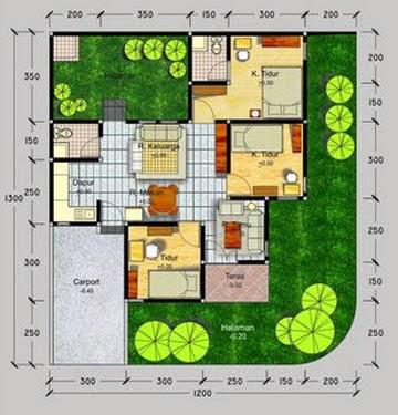 contoh denah rumah minimalis type 70 blog interior rumah
