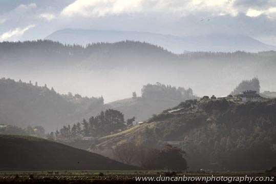 Misty hills, Bay View photograph