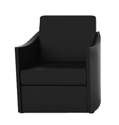 Modern Black Leather Verde Lounge Chair