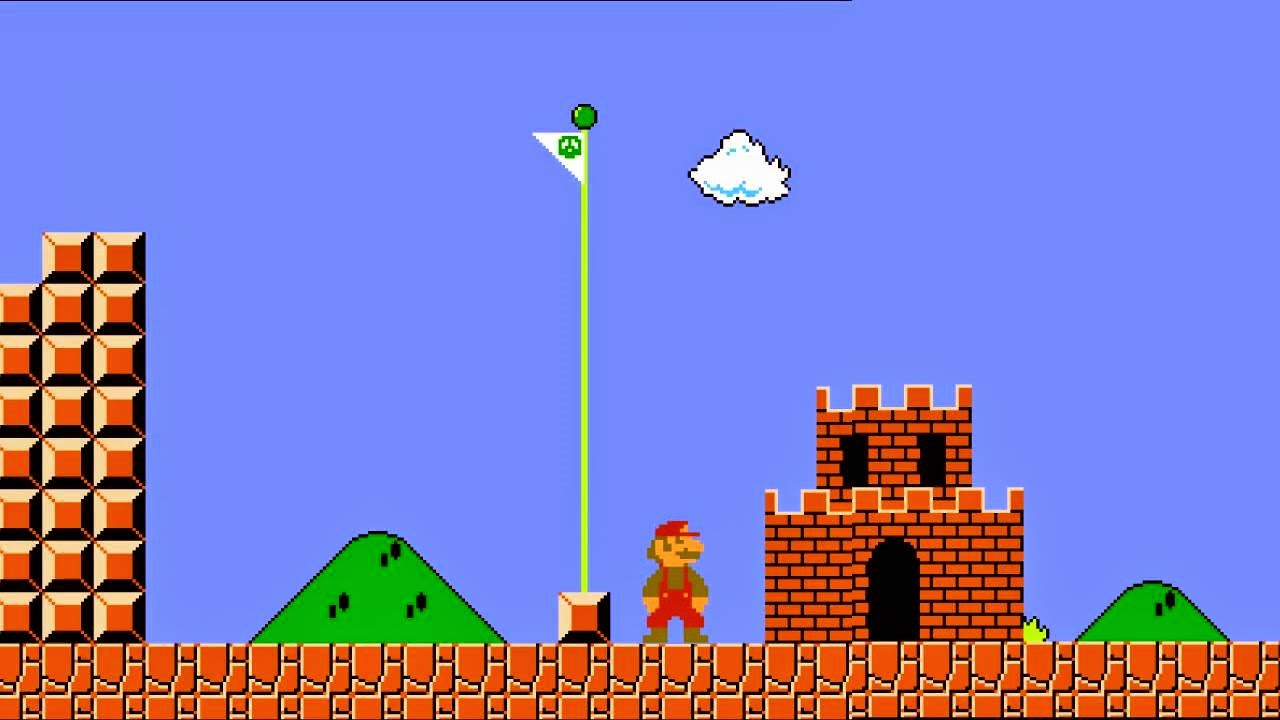 FACT: It is possible to jump over the flag pole in original Super Mario Bros game