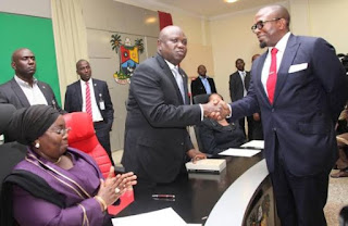 Lagos Governor Ambode swears in new 19 Permanent secretaries