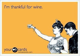 I'm thankful for wine