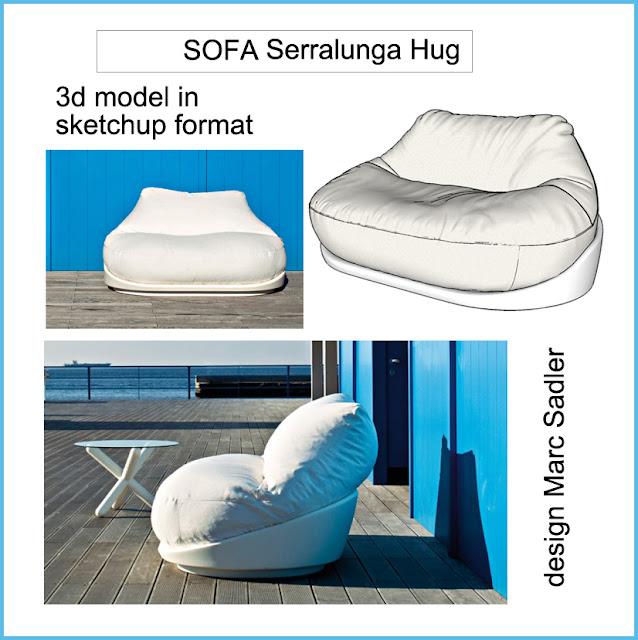 free sketchup model  serralunga  sofa #2