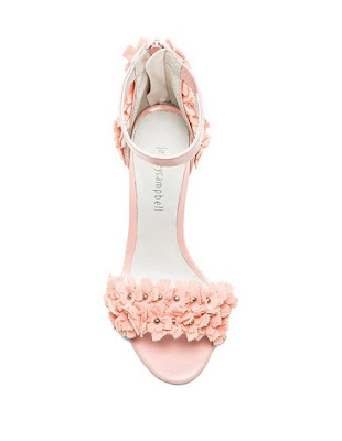 Jeffrey Campbell Blush Barely there floral high heels