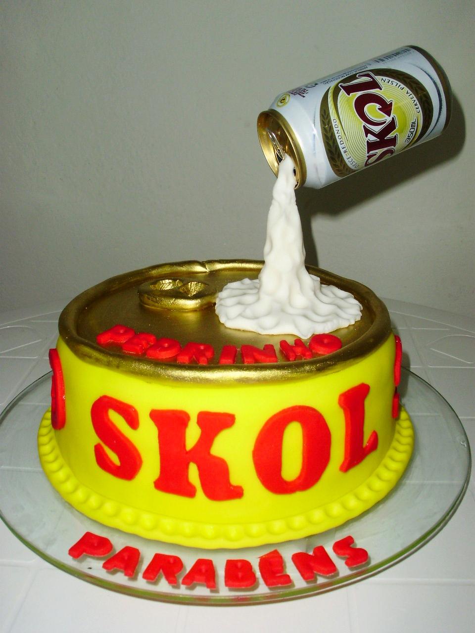 Fabuloso Delícias de Festa: Bolo da Skol CP45