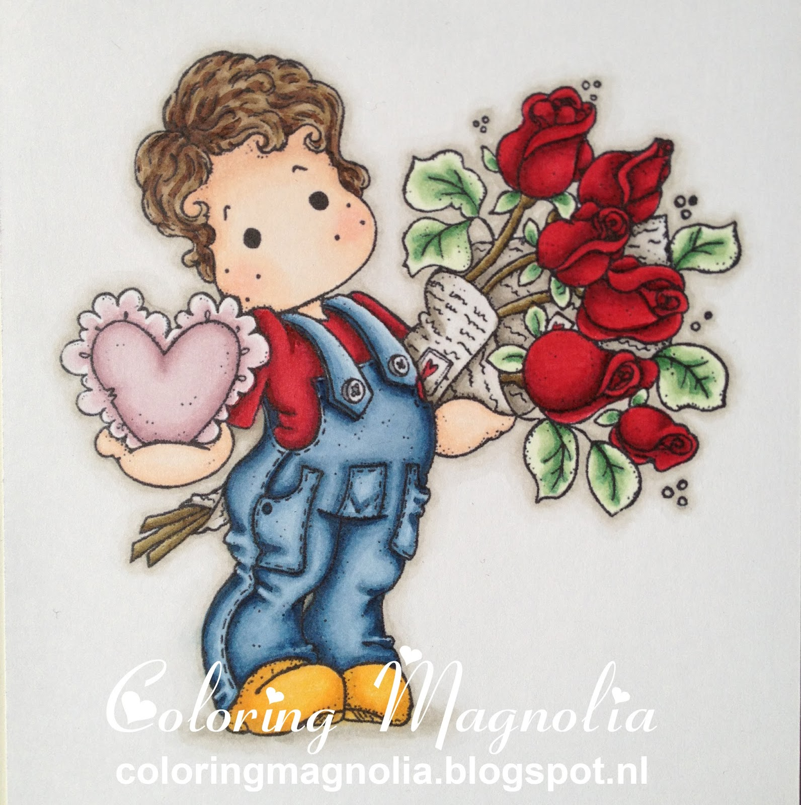 Coloring Magnolia Stamp 2013 With Love Collection - Charming Edwin