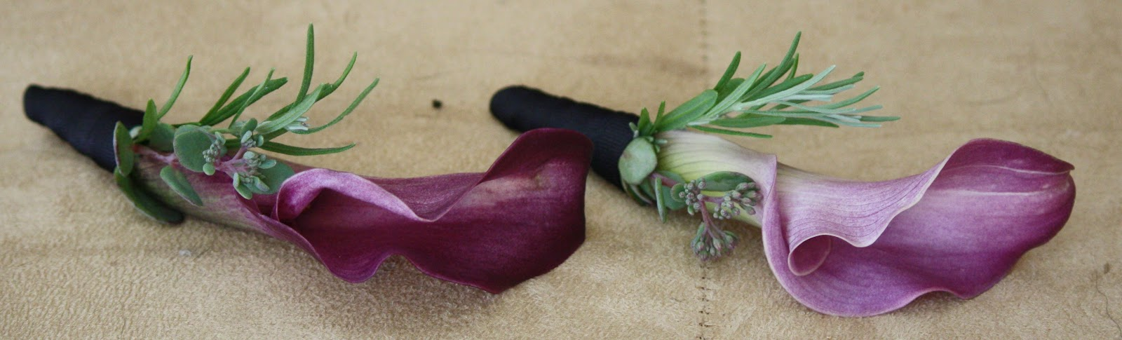 Calla Lily Boutonnieres - Boutonnieres - Wedding Flowers - Groom - Usher - Best Man - Groomsmen - Ushers - Groom's Boutonniere