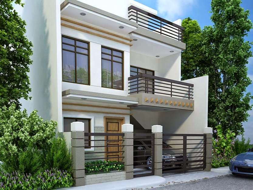rumah minimalis 2 lantai warna putih