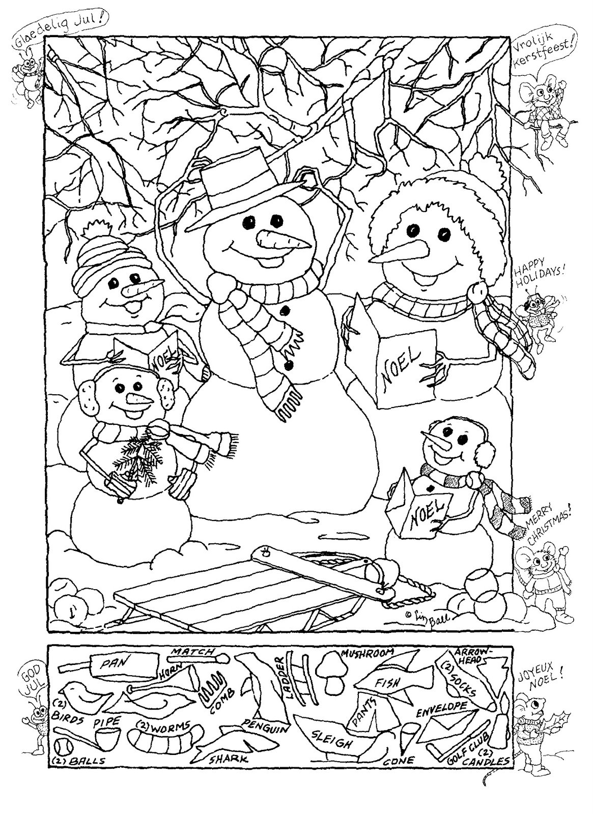 Christmas Hidden Picture Printables