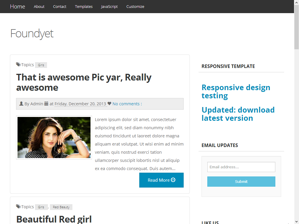 Foundyet Simple and Professional Responsive blogger template 2014 photo