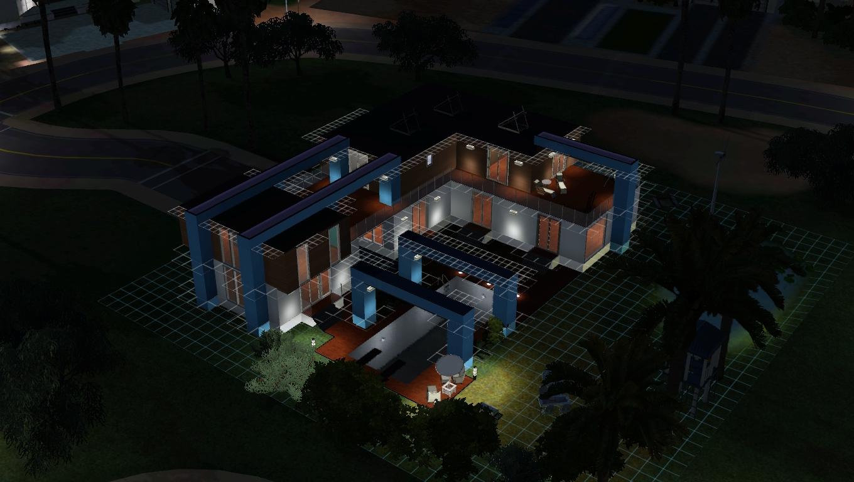 Maison de Sims: White Sun, maison moderne - sims 3
