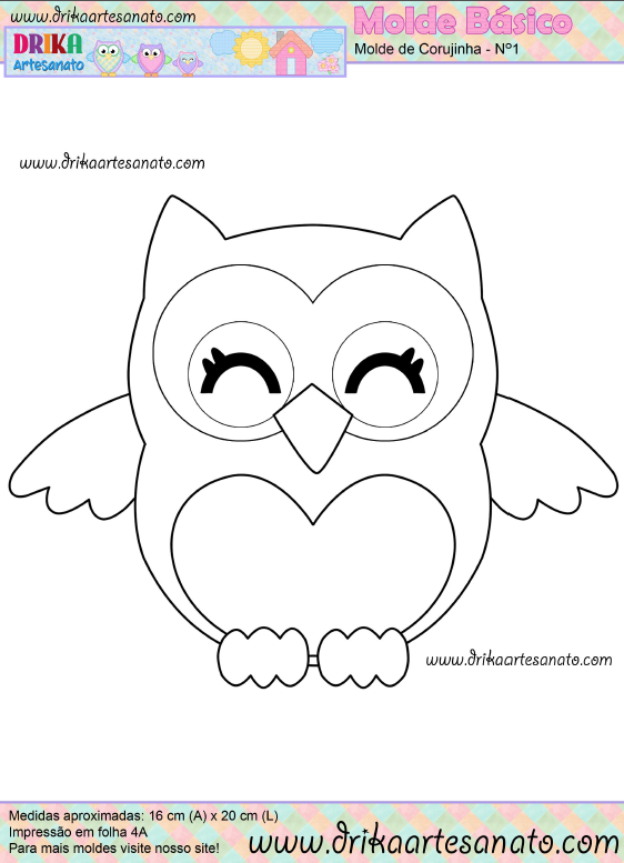 Owl Template Printable Just Cut These Out For The Kids To