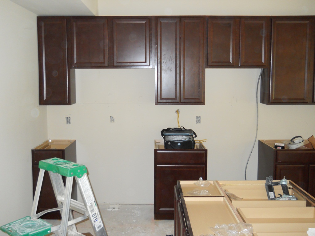 When in rome our journey with ryan homes paint for Area above kitchen cabinets called