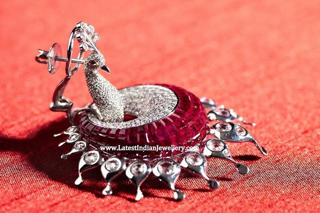 Peacock Diamond Earrings