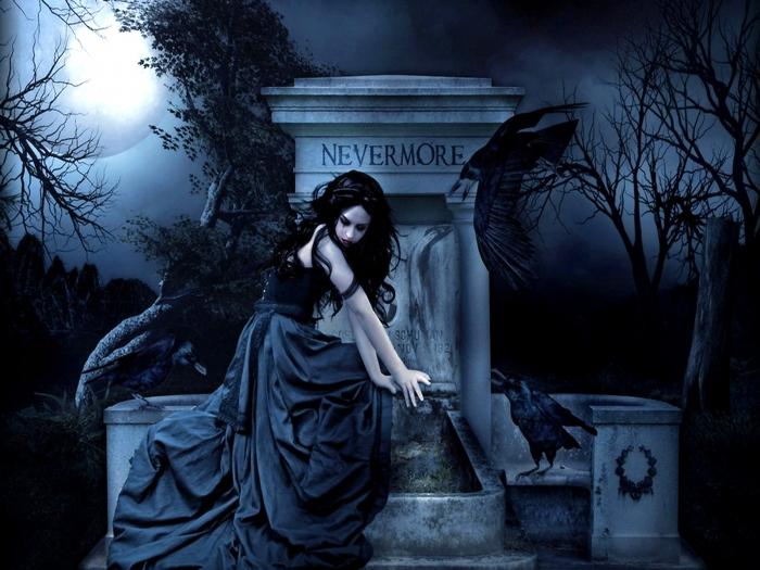 girl on dark wallpaper - photo #15
