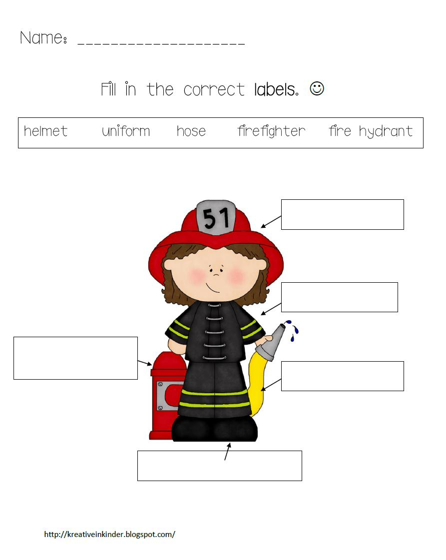 Firefighter Preschool Worksheets http://www.classroomfreebies.com/2011/09/labeling-freebie.html
