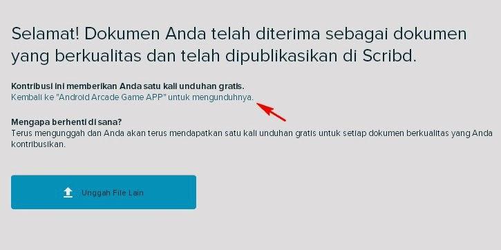 Mendapatkan Link download dokumen Scribd
