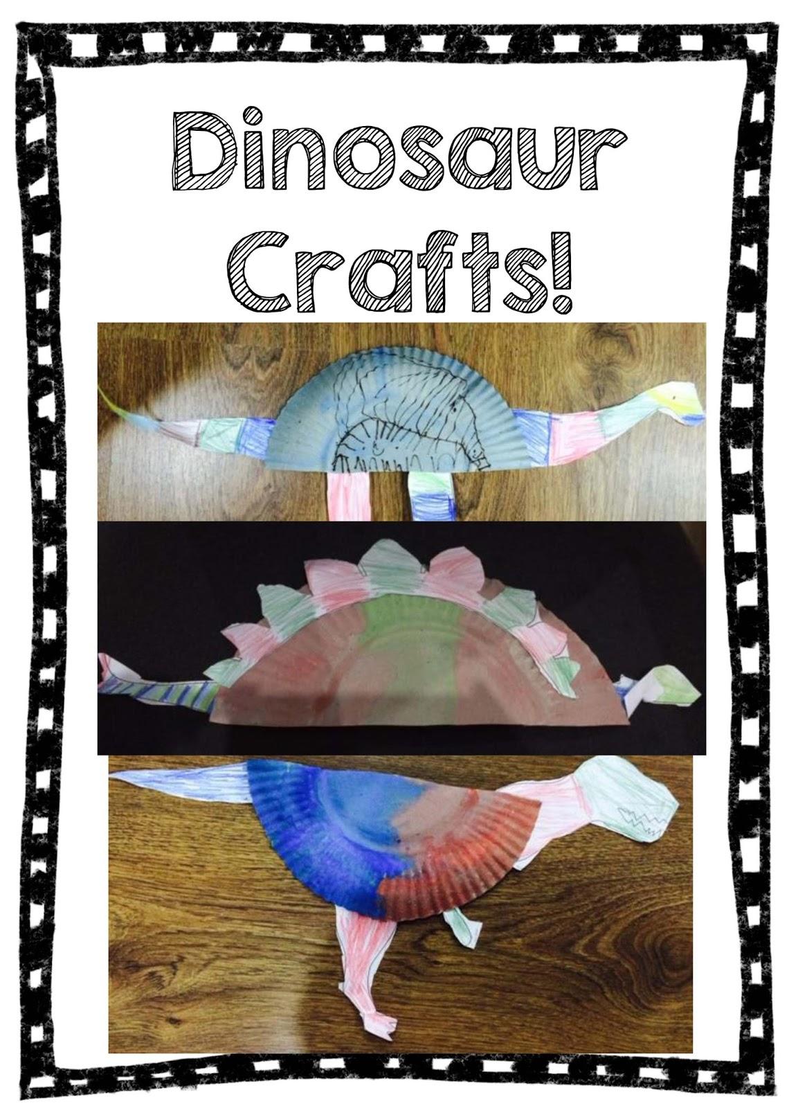 spoonfuls of kindergarten  dinosaur craft and writing