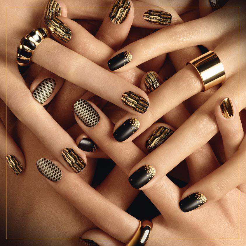 The Amusing 2015 black nail designs Pics