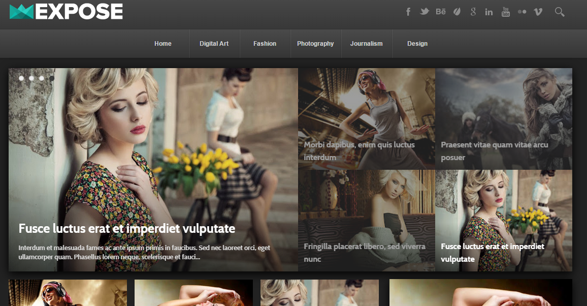 Download Expose Responsive Blogger Template