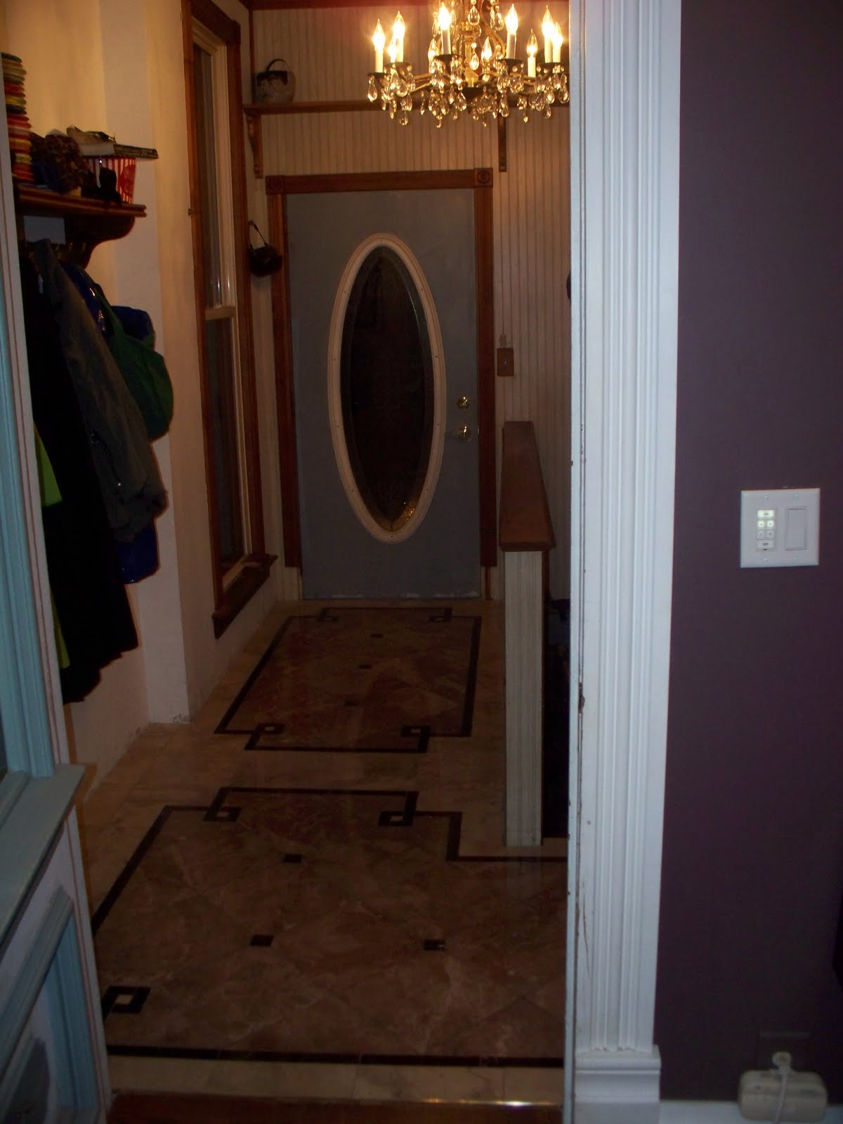 Victorian Foyer Jobs : Old victorian house marble floor tile entryway