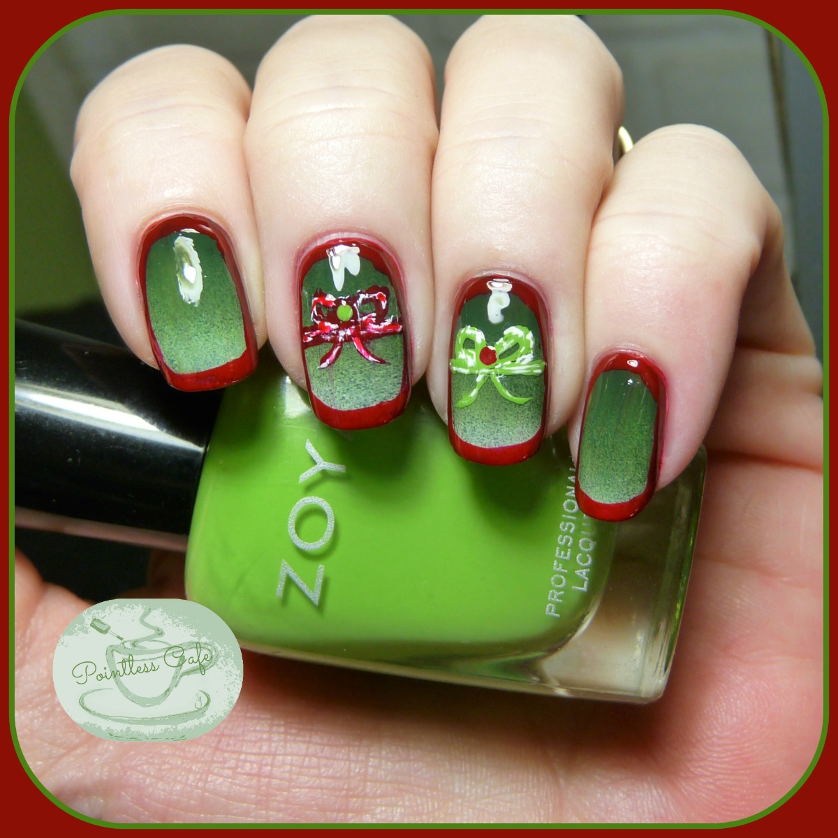HPB Presents: Holiday Nail Art! - Pretty Packages | Pointless Cafe