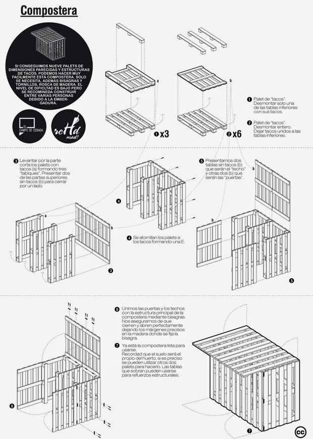 Eco reciclaje muebles con palets reciclados paso a paso - Muebles palets reciclados ...