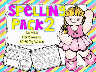 http://www.teacherspayteachers.com/Product/Spelling-Writing-Activities-5-Weeks-Frys-30-60-sight-words-943293