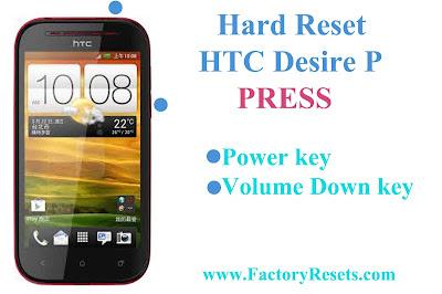 Hard Reset HTC Desire P