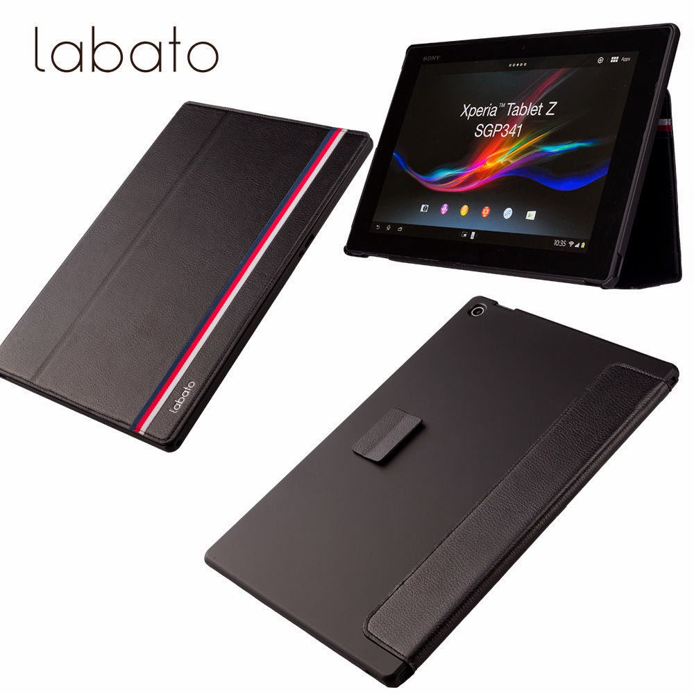 Labato Microfiber High Quality Simple Case Cover For Sony Xperia Tablet Z New