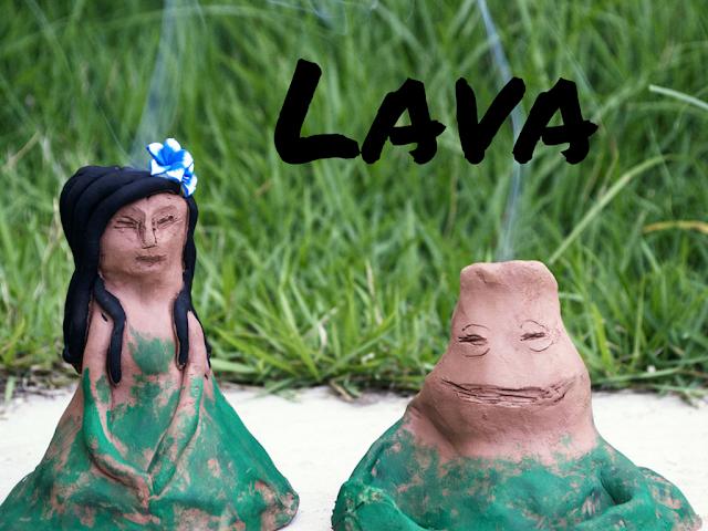 pigs-and-roses-lava-pixar-short-film-corto-diy-clay-barro-volcano-volcan