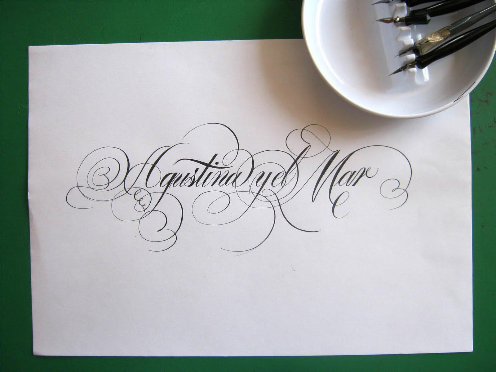 Abecedario De Letras Cursivas Para Tatuajes