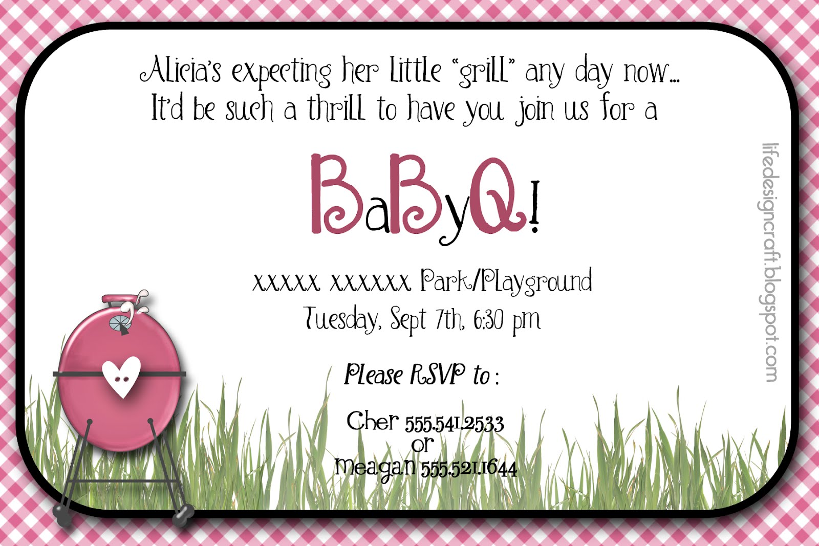 life design and the pursuit of craftiness baby bbq baby girl shower