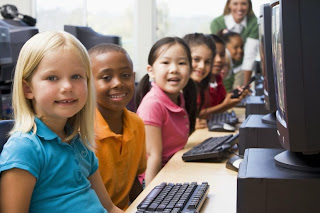 kids having fun on computers