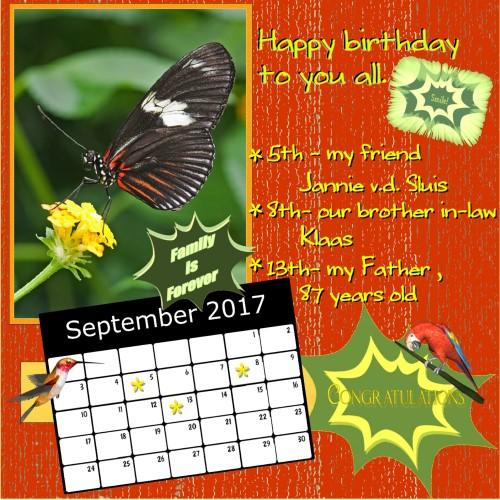 Nelleke's Sept. 2017 calendar