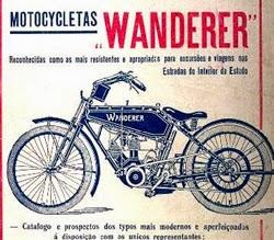 Propaganda das Motocicletas Wanderer em 1914.
